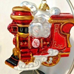 Blown Glass Train Ornament Hallmark Heirloom